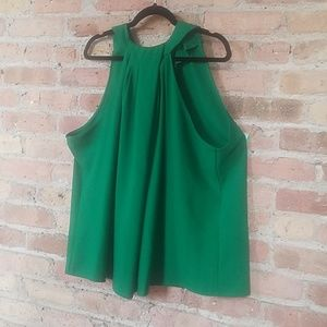 NWT - Kelly Green Origami Halter Top
